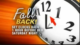 Fall Back Clock